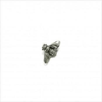 Boucles d'oreilles puce abeille en argent - Bijoux fins de créateur