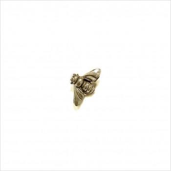 Boucles d'oreilles puce abeille en plaqué or - Bijoux fins de créateur