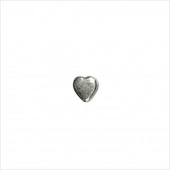 Boucles d'oreilles puce coeur en argent - Bijoux fins de créateur