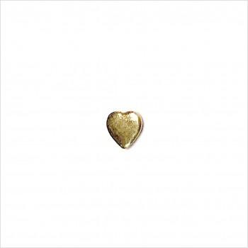 Boucles d'oreilles puce coeur en plaqué or - Bijoux fins de créateur