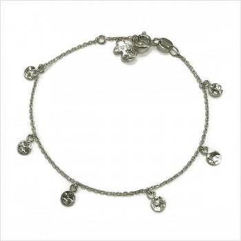 Bracelet sur chaine argent minis médailles martelées - Bijoux tendance