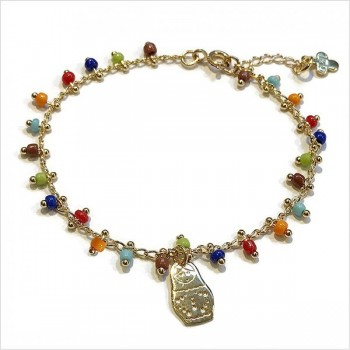 India bracelet or necklace with a mini charm