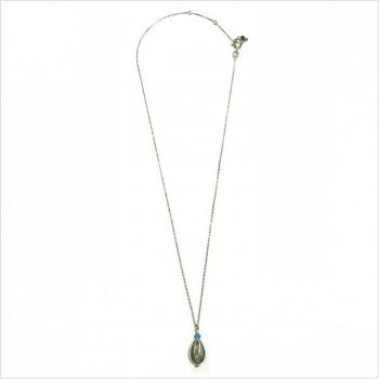 Collier Cauris et turquoise en argent - Bijoux modernes - Gag et Lou- bijoux fantaisie