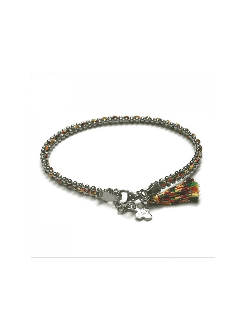 Anna bracelet with a color pompom