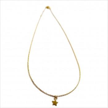 Collier sur chaine pendentif mini étoile en plaqué or - Bijoux fantaisie
