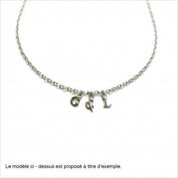 Personnalize your micro-letter necklace on chain