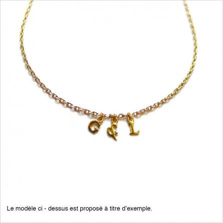 Micro-lettre seule en plaqué or pour collier ou bracelet - personnalisation - Bijoux modernes - Gag et Lou - bijoux fantaisie