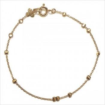 Bracelet sur chaîne en plaqué or et perles à écraser aléatoires - Bijoux fins et intemporels