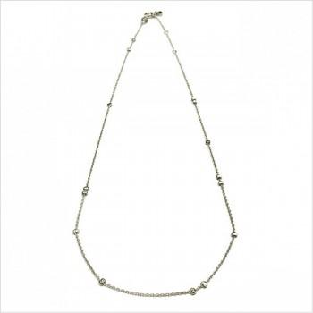 Collier petites perles à écraser irrégulières sur chaine en argent - Bijoux délicat