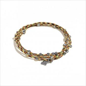 Bracelet lien multicolore perles en argent - Bijoux fins et fantaisies originaux