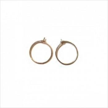 Créoles fines simples en argent 12 mm- Bijoux délicat