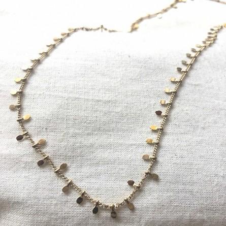 Collier sur chaine minis pampilles plaqué or - Bijoux fins et tendances