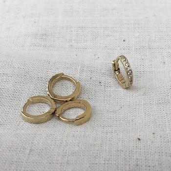 Minis créoles serties de zirconium blanc en plaqué or - Bijoux modernes
