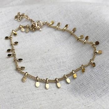 Bracelet sur chaine plaqué or pampilles - Bijoux fins et tendances