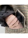 Jonc fin message gravé en plaqué or et argent - Bijoux fins de créateur