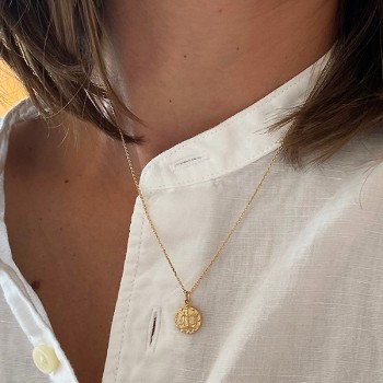 Colliers Zodiaque / Signe astrologique sur chaine plaqué or - bijoux modernes - gag et lou - Bijoux fantaisie