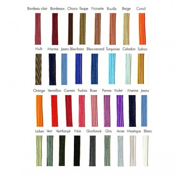 Nuancier de lien soyeux colorés - bijoux fantaisie Gag & Lou