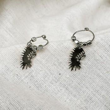 Créoles en argent avec perles facettées pendentif coiffe d'indien - Bijoux fins et fantaisies