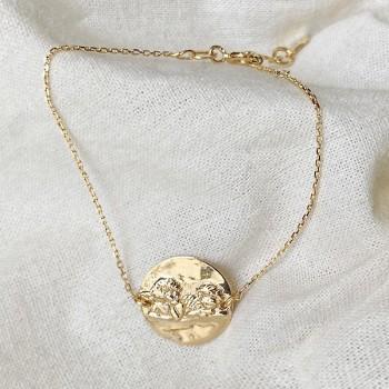 Bracelet médaille Ange sur chaine en plaqué or - Bijoux modernes - gag and lou - bijoux fantaisie