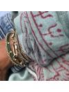 Bracelet grands maillons mousquetons en plaqué or - Bijoux originaux de créateur