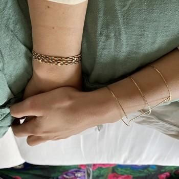 Bracelet lien de couleur perles en argent ou plaqué or Bijoux fins et fantaisies originaux
