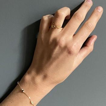 Bracelet Joséphine sur chaine en plaqué or rubis soizite et perle fines - Bijoux fins et fantaisies