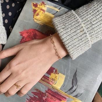 Bague en plaqué or message love manuscrit - bijoux fins et fantaisies