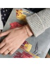 Bague en plaqué or message love manuscrit - bijoux délicat