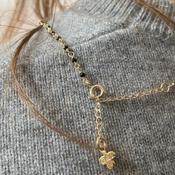 Collier plaqué or sur chaine en spinelle et pièce de monnaie - Bijoux fins et fantaisies tendances