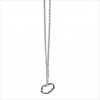 Collier nuage évidé sur chaine en Argent - bijoux fantaisie