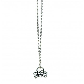 Hollow skull on chain