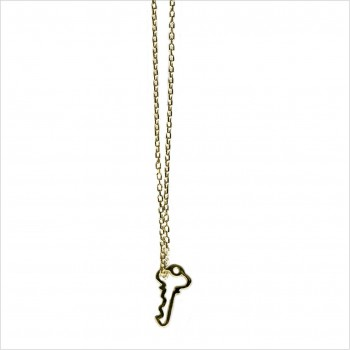 Collier clé évidée sur chaine en plaqué or -bijoux fins et fantaisies
