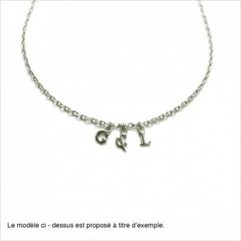 Bracelet micro lettre en argent sur chaine, toutes les lettres disponibles - Bijoux modernes - gag et lou - bijoux fantaisie