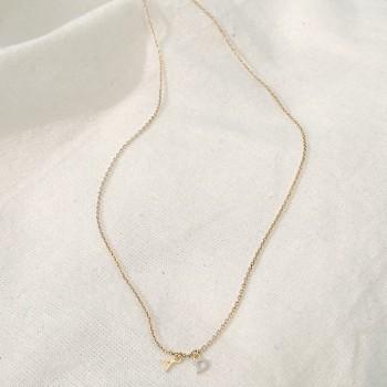 Collier personnalisable petites lettres sur chaine en plaqué or - Bijoux tendance