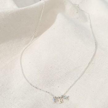 Collier personnalisable petites lettres sur chaine en argent - Bijoux tendance
