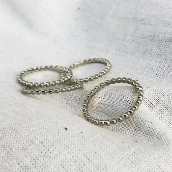 Bague mini boules en argent 925 - Bijoux fins et intemporels