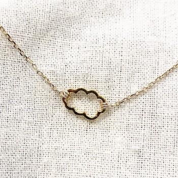 Bracelet nuage évidé sur chaine en plaqué or -bijoux fins et fantaisies