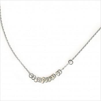 Collier 15 anneaux sur chaine en argent - Bijoux délicat