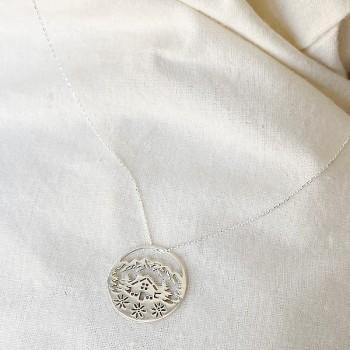 Collier 4 saisons médaille Hiver sur chaine en argent - Bijoux fins et fantaisies