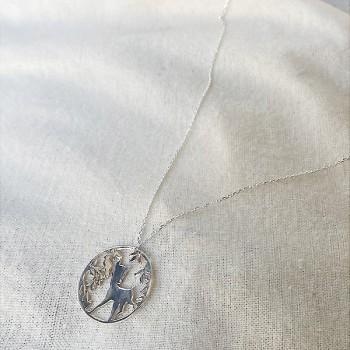 Collier 4 saisons médaille Automne sur chaine en argent - Bijoux fins et fantaisies