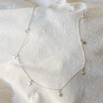 Collier petites étoiles sur chaine fine en argent - Bijoux fins et tendances