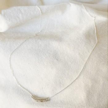 Collier 15 anneaux sur chaine en argent - Bijoux fins et fantaisies