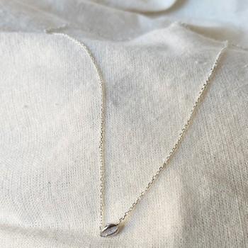 Collier mini coquillage cauris en argent sur chaine - Bijoux fins et tendances