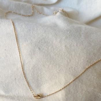 Collier mini coquillage cauris en plaqué or sur chaine - Bijoux fins et tendances