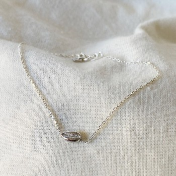 Bracelet mini Cauris sur chaine en argent - bijoux fins et tendances