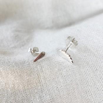 Boucles d'oreilles puce aile d'ange en argent - Bijoux fins de créateur