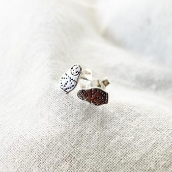 Boucles d'oreilles puce poupée russe matrioshka en argent - Bijoux fins de créateur