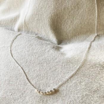 Collier sur chaine semainier 7 perles facettées en argent - Bijoux fins et fantaisies