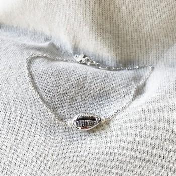 Bracelet Cauris et perles fines en argent - Bijoux fins et fantaisies