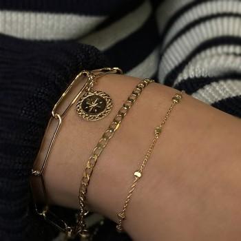 Bracelet maillons fin gourmette en plaqué or - Bijoux fins et intemporels